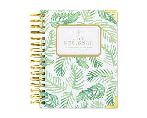 "Day Designer Daily Planner 2018 | Original Mini Flagship | Best Day Planner | Goal Setting | Time Management | Productivity | 6.625"" x 8.3"" 