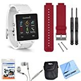 vivoactive GPS Smartwatch - White (010-01297-01) Red Replacement Band Bundle includes White vivoactive GPS Smartwatch, Red Replacement Band, Screen Protectors, Headphones, & More