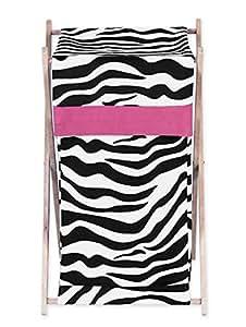 Sweet Jojo Designs Baby and Kids Funky Zebra Clothes Laundry Hamper
