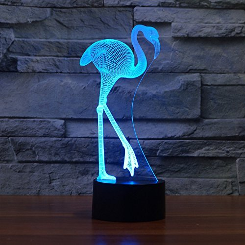 3D Visual Lamp Optical Illusion LED Night Light,7 Colors Change Touch Control Sensitive Switch Desk Light USB Charge Creative Unique Home Decoration,Festival Gift,Advertising and (Advertising Toy)