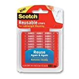 Scotch Restickable Strips, 1 x 3 Inches, 6 Strips, 4-PACK