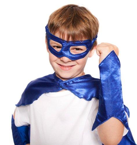 Blue Superhero Eye Mask and Powerbands