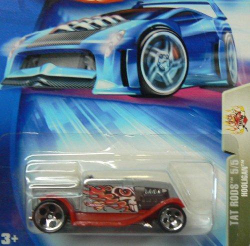 Mattel Hot Wheels 2004 Tat Rods 1:64 Scale Red Hooligan 5/5 Die Cast Car #122 -