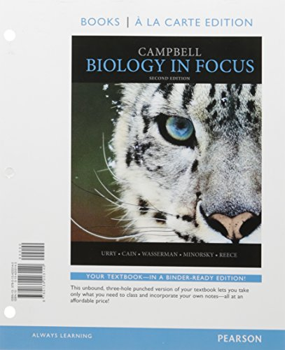 Campbell Biology in Focus, Books a la Carte Edition; Modified Mastering Biology with Pearson eText -- ValuePack Access Card -- for Campbell Biology in Focus (2nd Edition)
