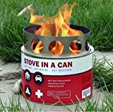 Stove In A Can: 4 Stove Value Pack – Portable Hybrid Wood Fuel Cell All In One Camp Stove (non-Coleman/Propane/Canister) – It's Like a Safe, Contained Campfire – Great Gift Idea, Outdoor Stuffs