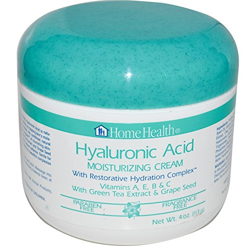 Home Health Moisturizing Cream, Hyaluronic Acid, with Restorative Hydration Complex, 4-Ounces