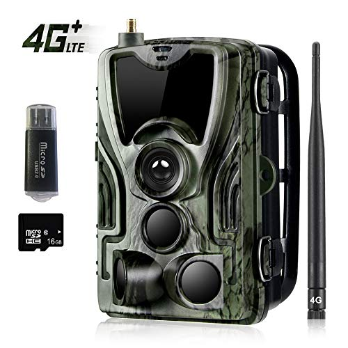 Suntekcam 4G LTE Cellular Trail Game Camera, 16MP 1080P Wildlife Hunting Camera (AT&T/Verizon Support), Micro SD Card and Card Reader Included, Night Vision IP65 Waterproof Cam,0.3s Scouting Camera