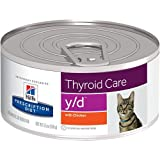 Hill's Prescription Diet y/d Thyroid Care with Chicken Canned Cat Food 24/5.5 oz