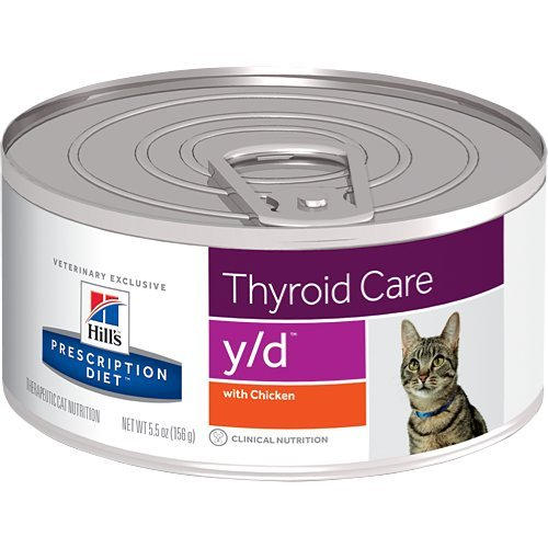 HILL'S Prescription Diet y/d Thyroid Care with Chicken Canned Cat Food 12/5.5 oz by HILL'S