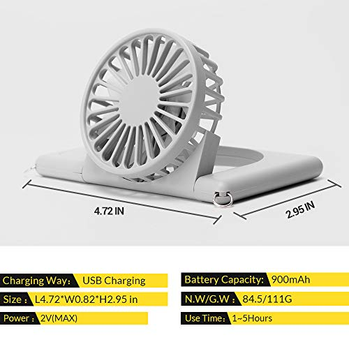 Neck Fan, LETOUR Handheld Fan Mini Fan Portable USB Personal Fan 3 Speeds 90° Rotating Adjustable USB Fan for Kids Women Men Indoor Outdoor Travel with Lanyard