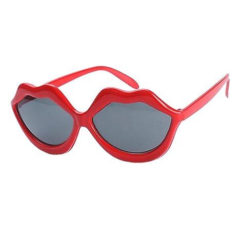 Dolity Par de Gafas Graciosos Cautivador Labios Rojos Sol ...