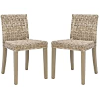 Safavieh Home Collection Tulum Grey Wash Side Chair (Set of 2)