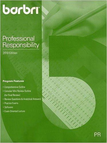 Barbri Multistate Professional Responsibility Examination