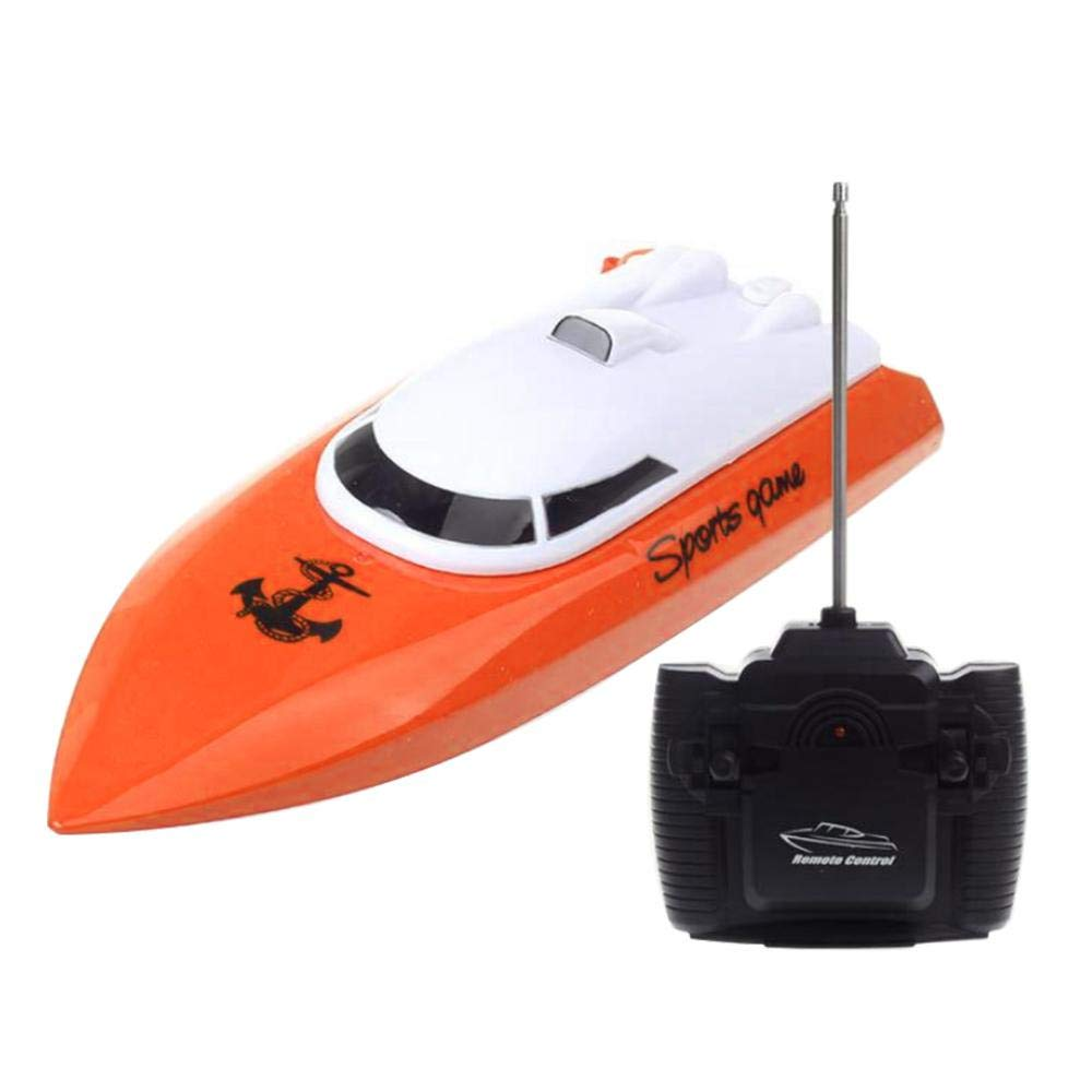 UMIWE Remote Control Boat for Kids Adults, Electric High Speed RC Boats  Mini Self-righting Waterproof Racing Boat Toys for Lakes, Rivers and Pools,