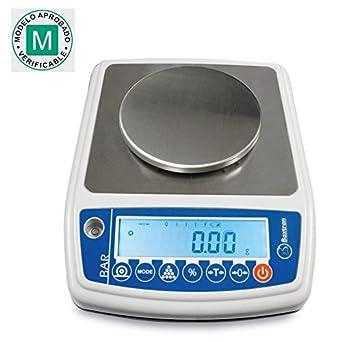 Balanza precisión CERTIFICADA Baxtran BAR 300 (150g x 0.005g) 12 cm diámetro: Amazon.es: Industria, empresas y ciencia
