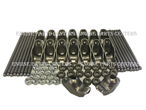 - Self Aligning Rocker Arms & Pushrod Set compatible with 1968-96 Chevy Small Block 350 305 265