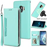 Galaxy S9 Wallet Case with Detachable Slim Case,Kickstand,Card Solts Holder,Slim Fit Magnetic Car Mount,CASEOWL Premium PU Leather Folio Flip Wallet Case for Galaxy S9 2018(Mint Green)