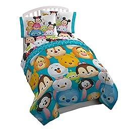 Disney Tsum Tsum \'Character\' Teal Microfiber Twin Reversible Comforter