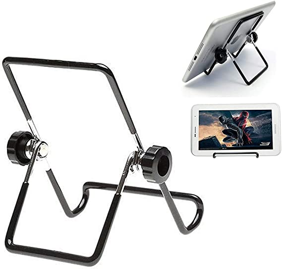 Fit New iPad Air 3rd Gen,New iPad Pro 12.9 2018 iPad Pro 11 2018//10.5//9.7 MoKo Foldable Tablet Stand Samsung E 9.6//Tab A 10.1 Black Adjustable Portable Metal Holder Cradle for 9-12.9 Tablets
