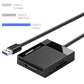 Lector de Tarjetas USB 3.0, 5 Gbps, Alta Velocidad, Estable ...