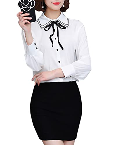 Mujer Camisa Casual Tops Manga Larga Camisa Slim Casual Blusa