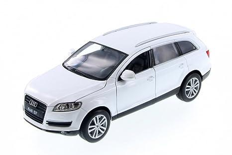 Audi Suv Q7 >> Amazon Com Welly Audi Q7 Suv White 28481d 1 24 Scale Diecast