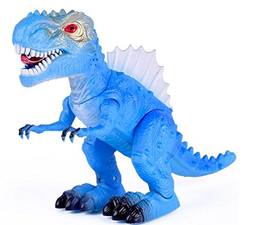 T-Rex Electronic Walking Dinosaur with Flashing Lights and Realistic Animal Sounds (Blue) by Vabliss (Image #10)