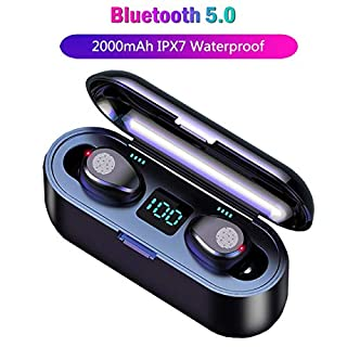 Bluetooth Earbuds, [Upgraded],5.0 Earbuds with 2000mAh Charging Case LED Battery Display 60H Playtime in-Ear Touch Bluetooth Headset IPX7 True TWS Wireless Earbuds for Work Sports (B07Y3DY4Z8) | Amazon price tracker / tracking, Amazon price history charts, Amazon price watches, Amazon price drop alerts
