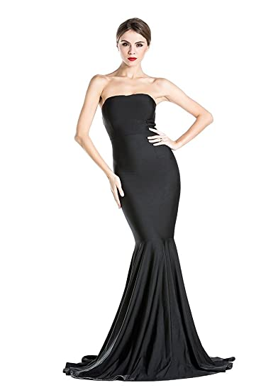 Missord Womens Bustier Evening Dress Uk:6 X-Small Black