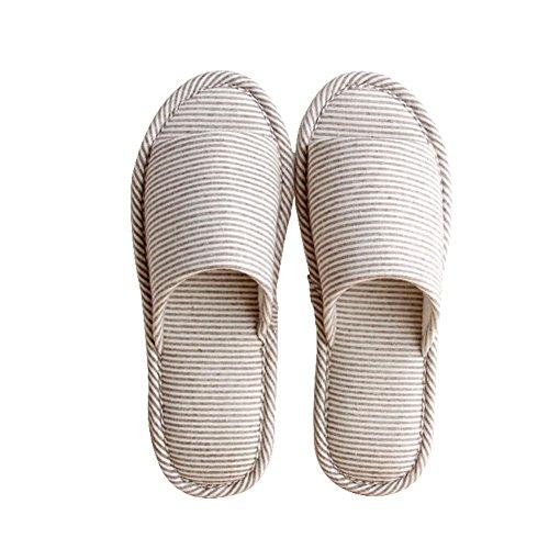 in in pile WANGXN in basso donne Pantofole in in e acciaio autunno di per casa delle Pantofole inossidabile lino a inverno coffee cotone morbido la pelo Pantofole in lino 8OrX8