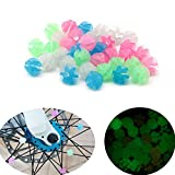 Luckycivia 144 Pcs Luminous Colorful Bike Bicycle Wheel Spokes Bead, Assorted Colors Spokes Bead, Bike Decoration Accessories for Kids (Style 1)