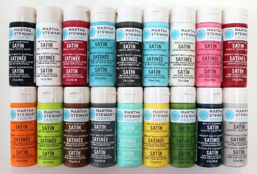 Martha stewart crafts multi surface satin acrylic craft paint 2 ounce promo767c best selling Best satin paint