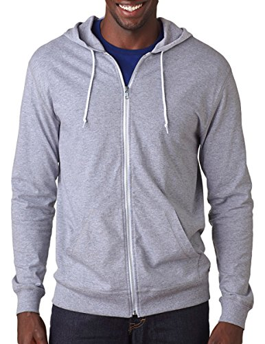 Fruit Of The Loom Sofspun Adult Jersey Full-Zip Hood, Athletic Heather, Large (The Fruit Of Athletic Jersey Loom)