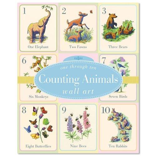Eeboo Counting Animals Wall (Eeboo Wall Cards)