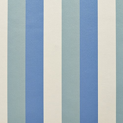 Light Blue and Light Green Shiny Large Stripe Damask Silk Look Upholstery Fabric by the yard (Stripe Damask Upholstery)