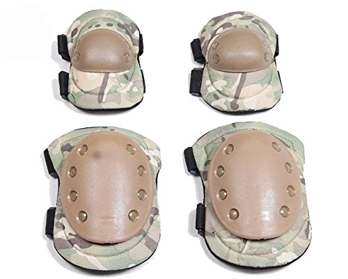 Coolmax Wrist Guard (Max-Cool Adult / Child Knee Pads Elbow Pads Wrist Guards 4 In 1 Protective Gear Set For Multi Sports Skateboarding Inline Roller Skating Cycling Biking BMX Bicycle Scooter (Camouflage))