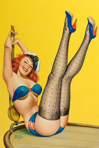 retro pinup girl poster