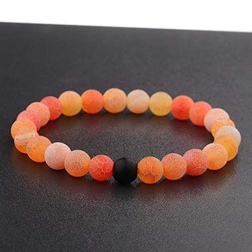 Gatton 2 Distance Bracelets for Lovers Couples Matching Gift Matte Agate 8mm Bead Stone | Model BRCLT - 41890 |