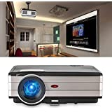HD Video Projector, 3500 Lumen HDMI USB AUX VGA Multimedia LCD LED Projectors 1080p Support TV Stick WiFi Dongle Game Console Backyard Movie Home Cinema