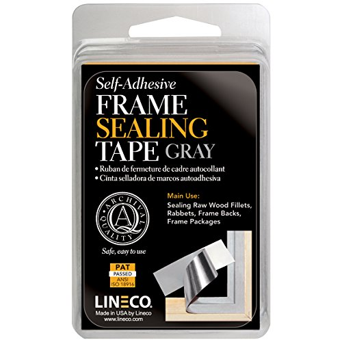 Lineco Frame Sealing Tape Gray 1.25 Inches X 24 - Sealing Tape Frame