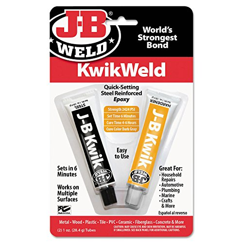 J-B Weld 8276 KwikWeld Quick Setting Steel Reinforced Epoxy - 2 (Weld Bonding Compound)