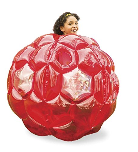 Red Bright Lights BBOP Buddy Bumper Ball Confetti Filled Motion Activated LEDs Inflatable Body Soccer Suit Durable PVC Vinyl 36 Diam