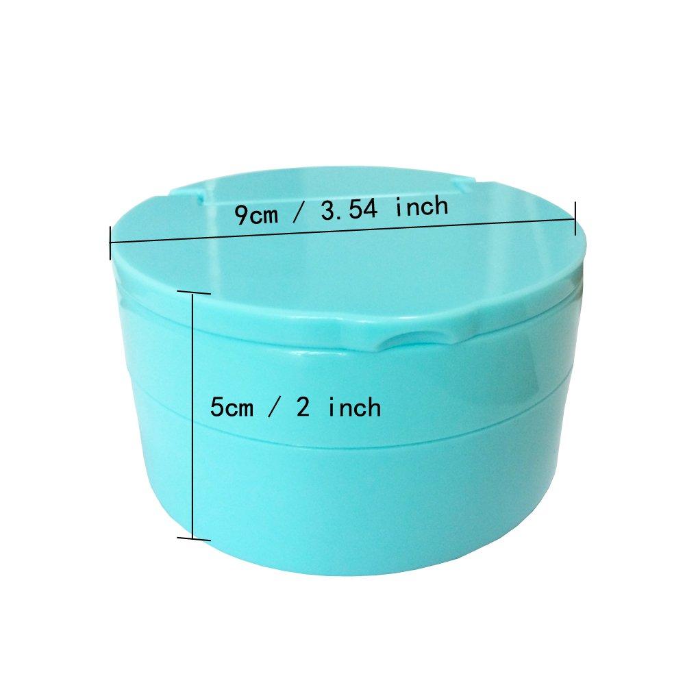 KNONGMAYI Easy Carry Waterproof Invisalign Retainer Denture Bath Appliance Denture Case by KNONGMAYI (Image #7)