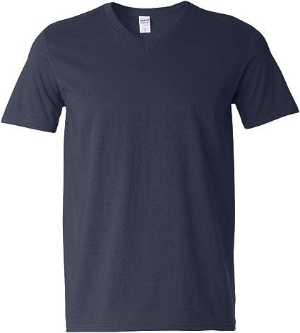 New Men/'s Gildan Ringspun Soft Style V Neck Soft Touch T Shirt