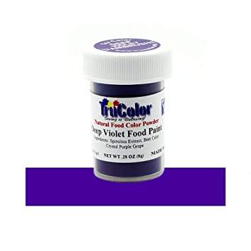 TruColor Deep Violet Airbrush Natural Food-Coloring Powder Paint, 8 Grams