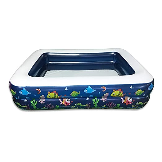 NBgy Piscina Inflable Familiar, Piscina Rectangular Inflable ...