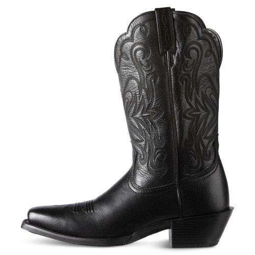 Ariat Kvinner Legende Western Cowboy Boot Svart Deertan