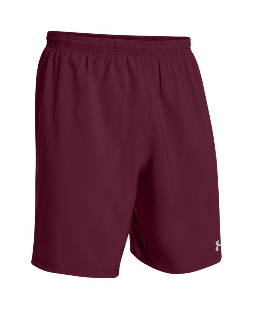 Under ArmourメンズHustle Soccer Shorts B00Y2T509Q S|マルーン マルーン S