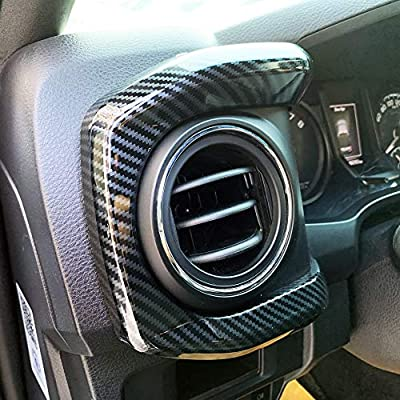 JSTOTRIM Carbon Fiber Look Central Console Dashboard Panel Cover Trim for Toyota Tacoma 2016-2020: Automotive
