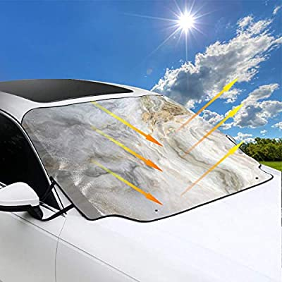 XYSM Car Windshield Cover Sun Shade UV Protector Ultra Thick Windscreen Snow...